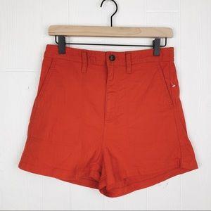 Madewell Camp Shorts Utility Pockets Elastic Waist